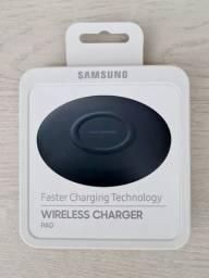 Carregador Wireless Samsung EP-P1100 lacrado. Parcelo no cartão.
