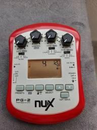 Pedal multi efeito p guitarra com saída p fone NUX PG-2