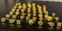 Peças de moeda antiga