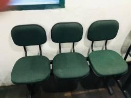 Título do anúncio: logarina de 3 ou 2 lugares - cadeiras - longarina de escritório