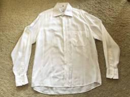 Camisa Social Vitorino Gold Tamanho M (número 40) Cor Branca Impecável Zerada Barbada!