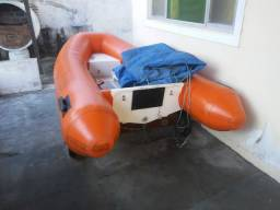 Bote inflável para 3 pessoas fundo de fibra