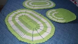 jogo banheiro crochê kit 3 pçs Apucarana