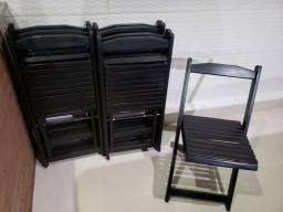 Título do anúncio: Jogo 08 cadeiras dobráveis Madeira
