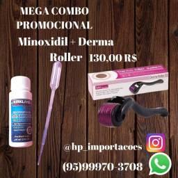 Minoxidil + derma roller + aplicador