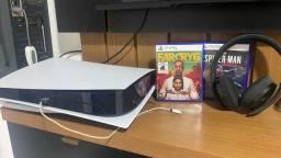 Título do anúncio: PS5 pouquíssimo usado na caixa