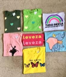 T-shirts apenas no varejo