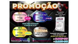 Promoção Cartões Panfletos Banners Calendário comercial etc