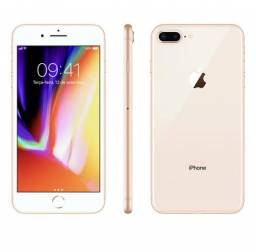 Iphone 8 plus gold 256gb - anatel - 1 ano de garantia da apple - nao troco