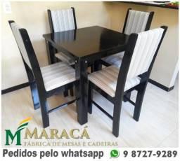 Conjuntos de 4 Lugares em Madeira Maciça - De Fábrica - Frete Grátis