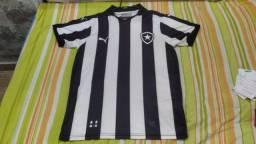 Camisa do Botafogo listrada sem patrocínio puma original tamanho G