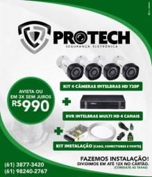 Câmeras de segurança cftv comercial e residencial Intelbras