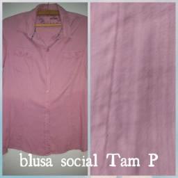Blusas sociais Tam P