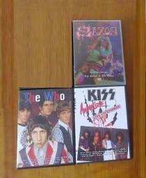 DVD Kiss Saxon Jean Michel Jarre The Who The Pretenders Rick Wakeman Outros
