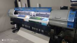 Ploter impressão digital eco solvente 2 cabeças Dx5