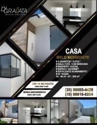 Casa Bairro Belo Horizonte 3 quartos - Varginha MG