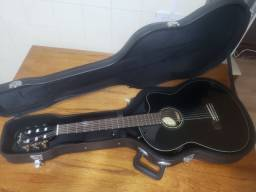 Violão Fender Cn140 Sce Thinline Nylon Black C/case Original