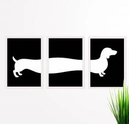 Placas Decorativas Dachshund