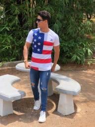 Camiseta longline oversids masculina atacado