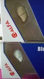 Caixinha de som e fones de ponto Bluetooth