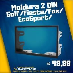 Moldura Painel 2 Din Multimidia Dvd Mp5 Golf Polo Bora Ecosport Fiesta Fox