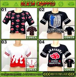 Título do anúncio: Blusa Cropped (Geek, Nerd, Otaku, Gamer) - NerdDog Store