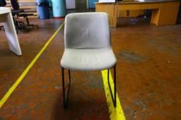 Título do anúncio: Cadeira de Escritório / Fixa (LER OBSERVAÇÕES) em Ferro/Pano Bege 75 cm x 43 cm x 40 cm