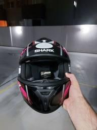 Capacete Shark S600 TAM 56 feminino pouco uso