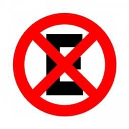 VENDO 7 Placas De Sinalização Proibido Estacionar E Parar 40cm<br><br>