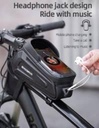 Bolsa Para Quadro guidão Rockbros Celular 6,8 Pol. Bike Impermeável