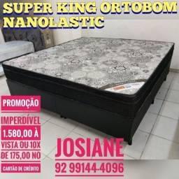 Título do anúncio: CAMA SUPER KING. ORTOBOM MOLAS NANOLASTIC