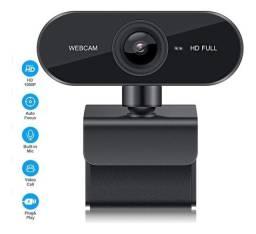 Webcam Câmera Computador Microfone Reuniões Aulas Videoconferência (Entrega Grátis)