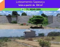 Título do anúncio: Loteamento Sapeaçu Ville, lotes 350 m², escriturado, infraestrutura, frente Rodoviária