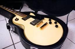 Título do anúncio: Guitarra Epiphone Les Paul Custom Alpine White 2010 Com Case