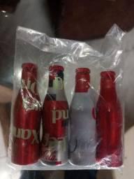 4 mini garrafinhas da coca cola, todas 20 reais