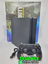 Playstation 4 Slim 500GB - 1 Controle - 1 Jogo - Caixa e Cabos - (Impecável)
