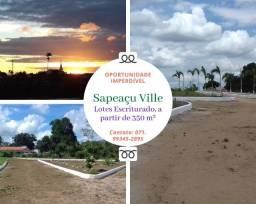 Título do anúncio: Imperdível: Loteamento Sapeaçu Ville,  escriturado,  350 m², a partir de R$ 65.000,00