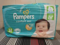 Fraldas Pampers Confort Sec (verde) tamanho M - pcts com 80, 44 e 24