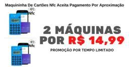 Título do anúncio: Maquininha De Cartões Nfc Aceita Pagamento Por Aproximação
