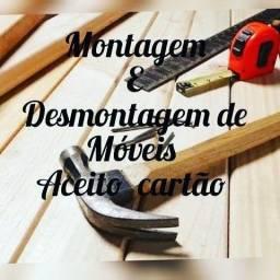 Montagem e desmontagem de móveis  (menos planejados)