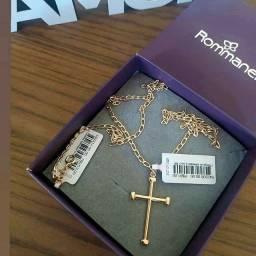 Título do anúncio: Corrente Masculina com Cruz Rommanel Folheada à Ouro 18k