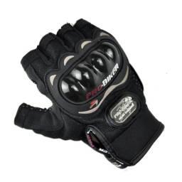 Luva Motociclismo Motocross Meio Dedo Com Proteção Pro Biker