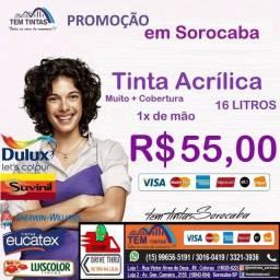 !!!!Promoção Relâmpago - Tinta Acrílica de 16 L- Cobre 1x de mão - De: R$95,00 por 55,00
