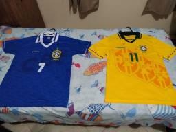 2 Camisas Seleção Brasileira 1994 - M