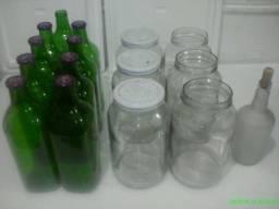 potes e garrafas