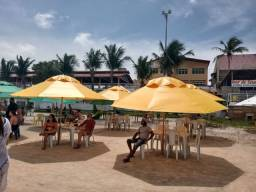 Repasse estrutura de restaurante de Praia