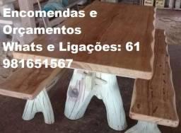 Mesas Rústicas de Madeira para sua casa