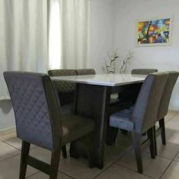 Mesa vigo super estilosa e com design lindo 6 cadeiras topissima