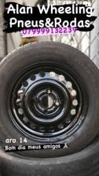 Rodas de Ferro 14 com pneus