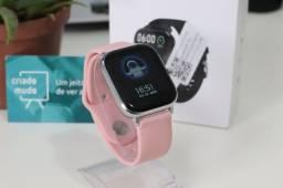Smartwatch P8 Pro Pulseira de Silicone 20mm Rosa
